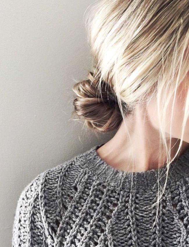 Féminin et un brin décoiffé, ce chignon bas a tout bon ! (instagram Cara McLeay)