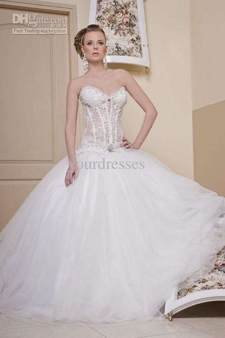 29 best wedding images on pinterest wedding frocks for See through corset top wedding dress