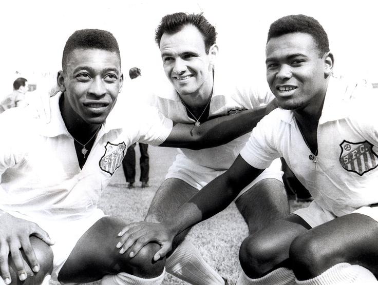Pelé, Pepe e Coutinho. Três eternos ídolos do Santos FC.