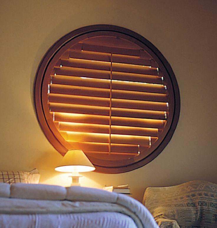 Round window shutter. www.openshutters.com.au