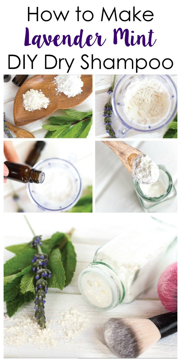 Make your own DIY Dry shampoo quickly and easily.