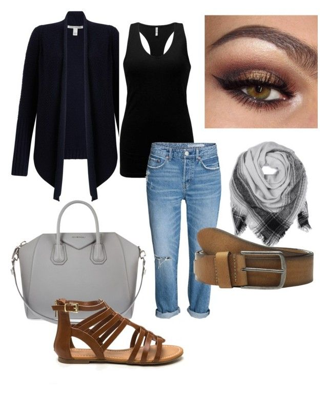 """""""Travel outfit. Vegas  black brown jeans"""" by mandy-curtis on Polyvore featuring Autumn Cashmere, BKE, Givenchy and COWBOYSBELT"""