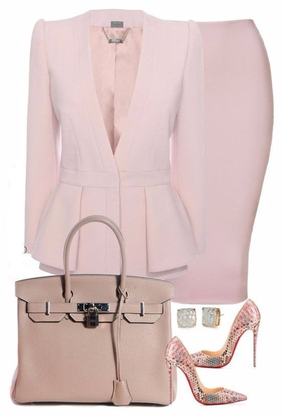 Style and fashion in clothing delicate color combinations #pink  #style  #bag