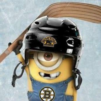 Bruins Minion!! Those little Minion's are adorable.