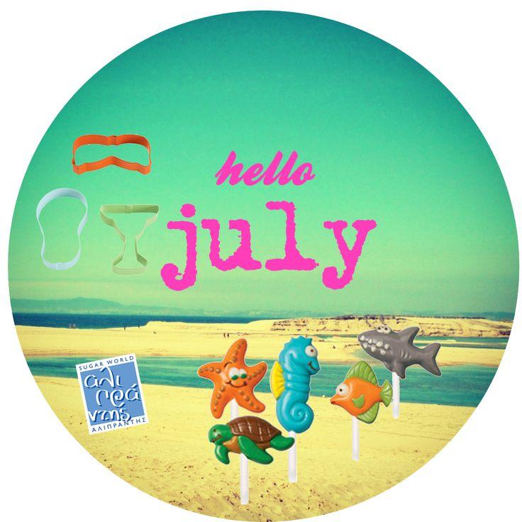 Καλό μήνα από την Sugar World Αλιπράντης με μια γεύση από καλοκαίρι με θαλασσινά σοκολατάκια και καλοκαιρινά μπισκότα!