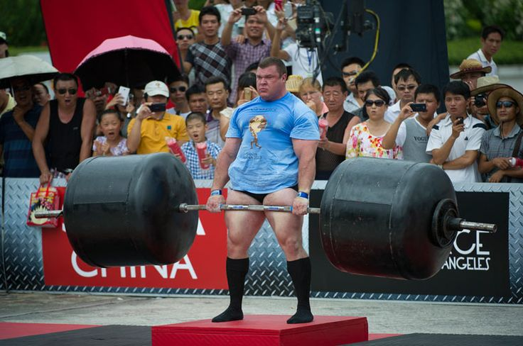 Vytautas Lalas of Lithuania competes at the Deadlift for Max event during the World's Strongest Man competition at Yalong Bay Cultural Square in Hainan Island, China Victor Fraile/Getty Images