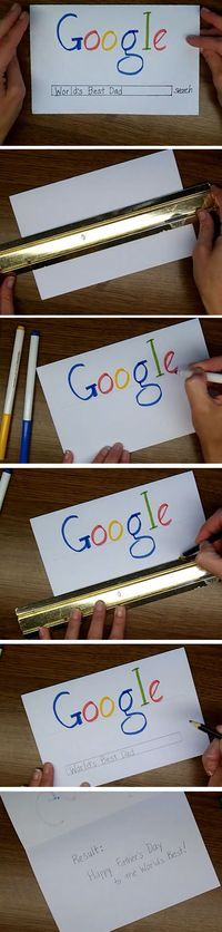 Google Search | Easy Fathers Day Cards for Kids to Make