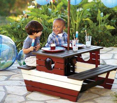 Kids Picnic Table Boat Fun Kids Food And Crafts