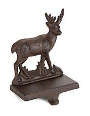 Cast-Iron Deer Stocking Holder