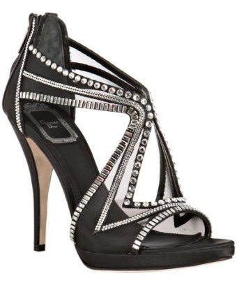 Christian Dior: Black Mesh, Christian Dior, Black Shoes, Crystals Details, Chic Shoes, Mesh Starlight, Details Sandals, Starlight Crystals, Dior Black