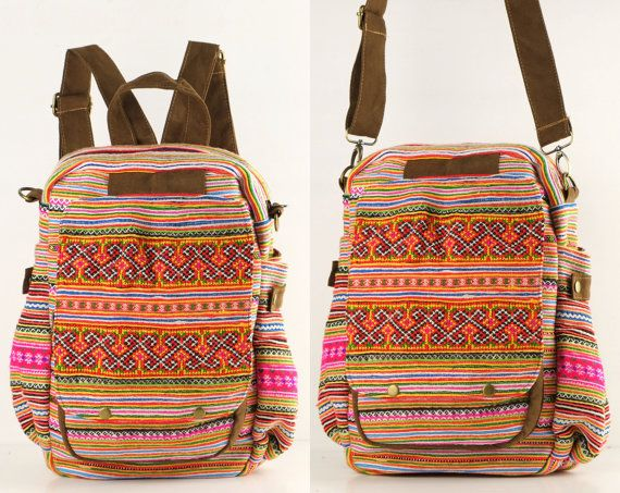 Gypsy Backpack Diaper Bag, Travel/ Student/ College/ Teen Boho Hippie on Etsy, $40.00