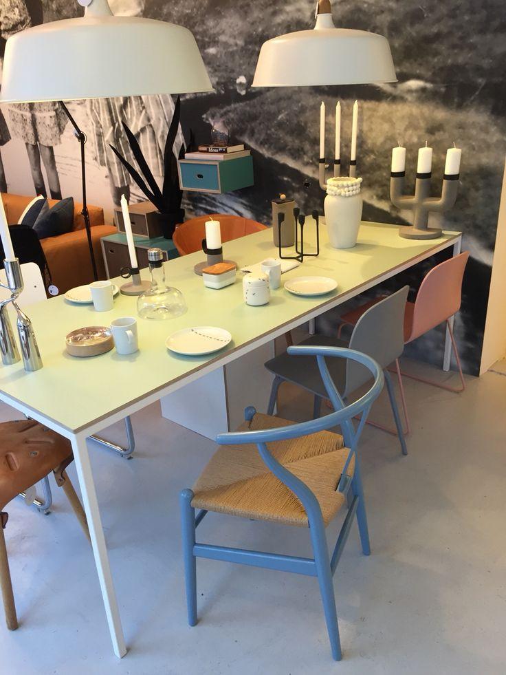 Depot Rotterdam Wishbone light blue natural papercord
