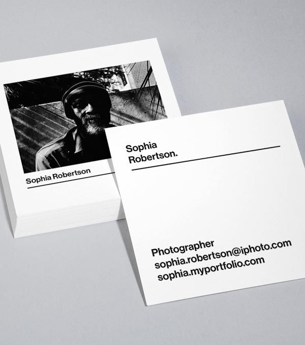 Browse Square Business Card Design Templates Moo United States Photographer Business Card Design Square Business Cards Design Photo Business Cards