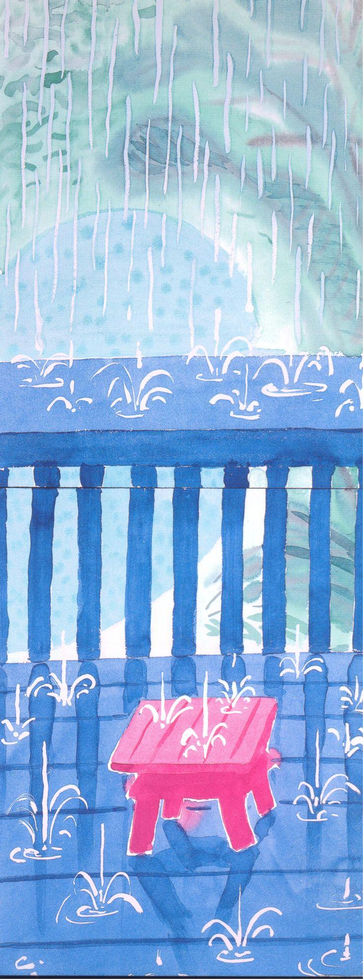 David Hockney | Saturday Rain ll | 2003