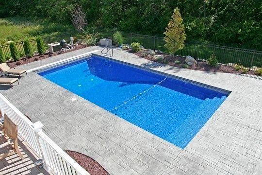 Rectangle  Swimming pools  Rectangle pool Pool landscaping Geometric pool