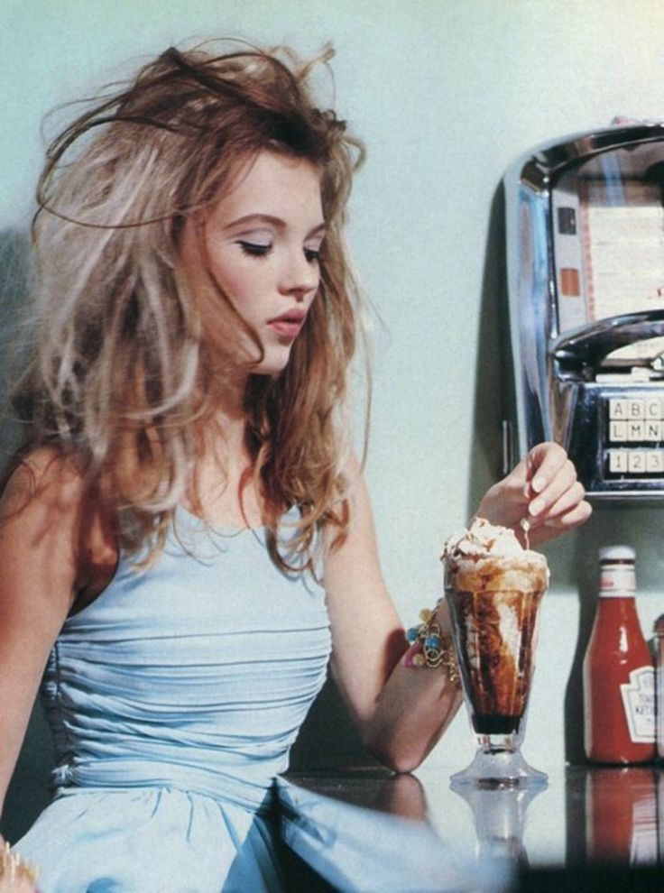 Kate Moss ice cream sundae, fashion via French Frosting