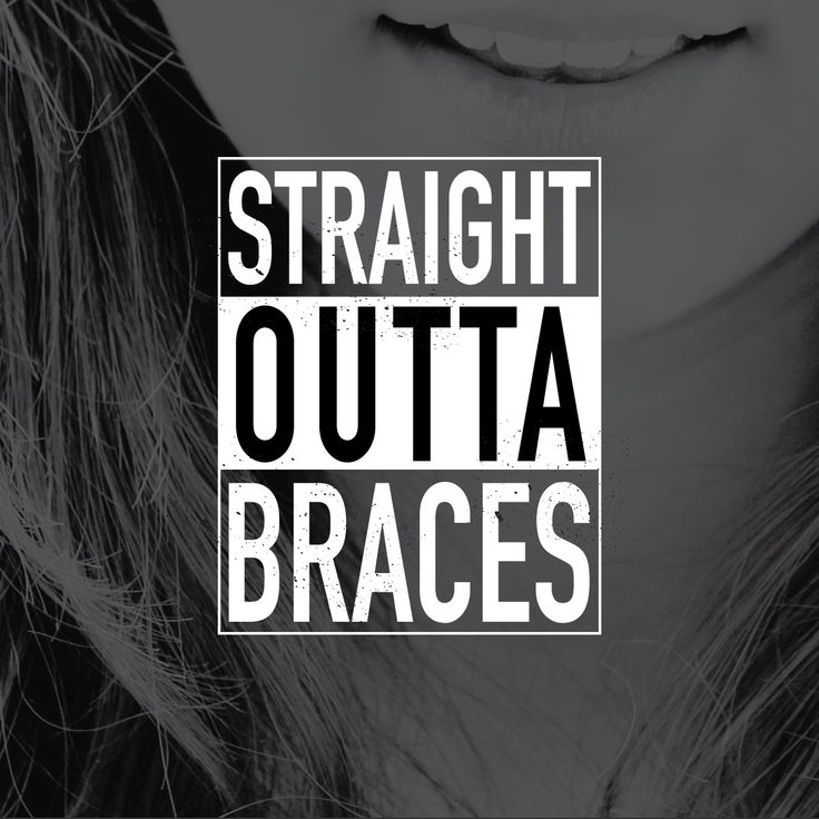 Even after braces keep in mind how we trained ya/  Keep your smile straight…