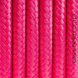 Przewód zasilający Malinowy Ogród od Kolorowe Kable- kabel w kolorze malinowym - casa-bella - oświetlenie to nasza pasja
