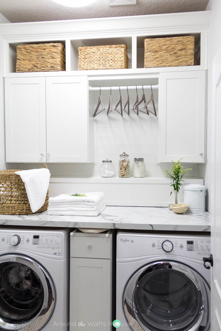 Laundry Room-Laundry Room Makeover-One Room Challenge-Fall 2015-Around the Watts House