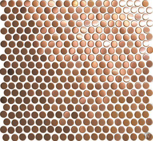 "Metal+Mosaics+Tile+Penny+Rounds+1/2""+x+1/2""+-+Copper"