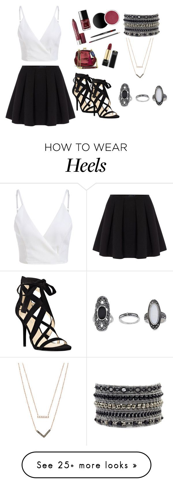 """""""Strappy Heels"""" by aishaamin25 on Polyvore featuring Polo Ralph Lauren, Nine West, Michael Kors and Topshop"""