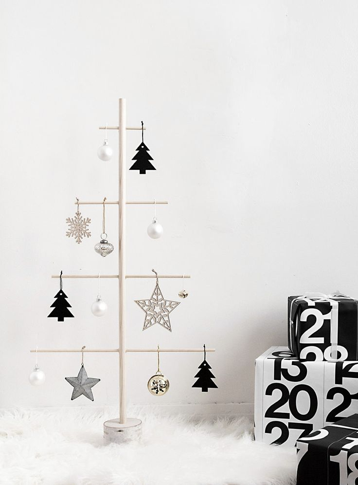 Modern Christmas tree alternative for small spaces.