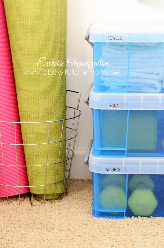 How to organize an EXERCISE SPACE in your home - A Bowl Full of Lemons