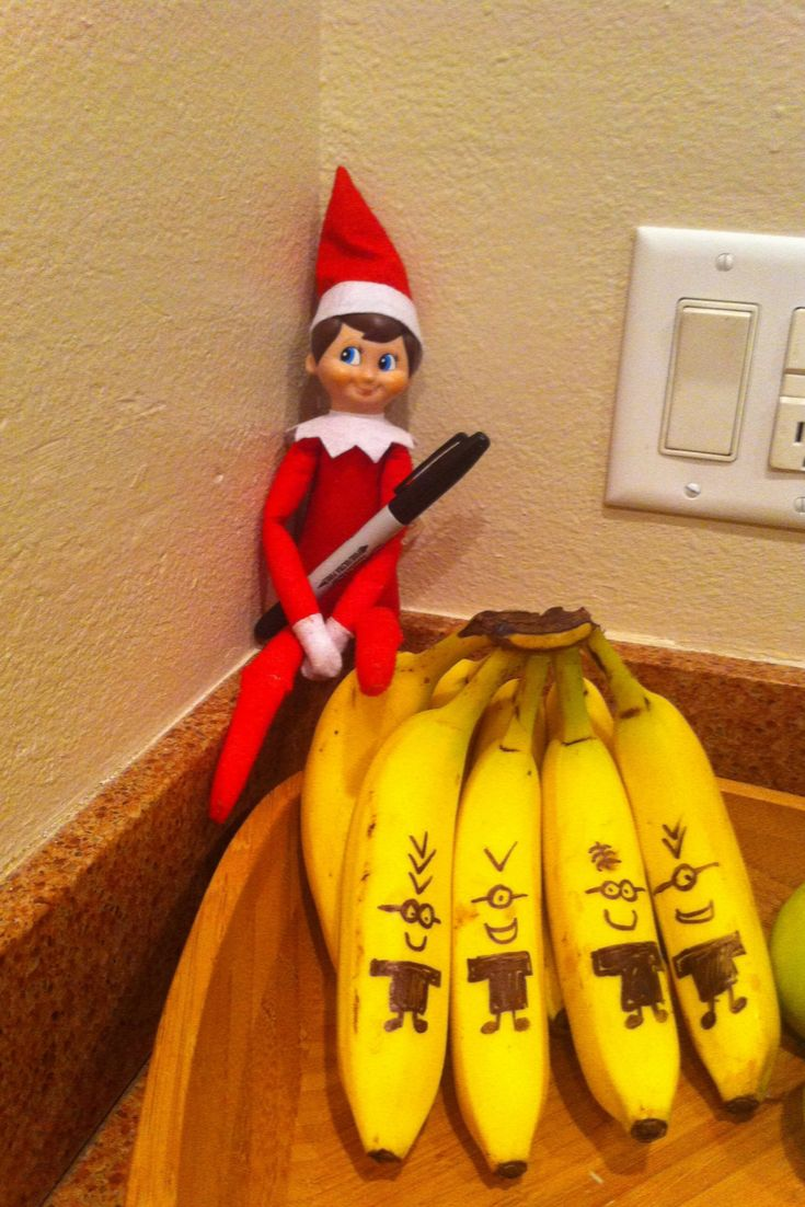 Great CostFree Elf on the Shelf Minion Bananas Style This