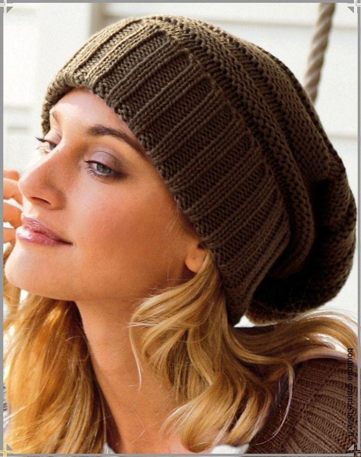 modèle tricot bonnet tombant …   Sacs   Chapeaux   Pinte… a30708531f1