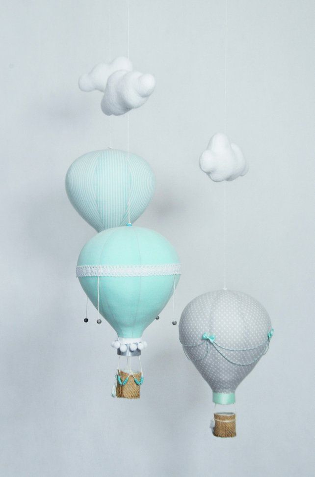 Hot Air Balloons Mobile Balloon Decoration Nursery