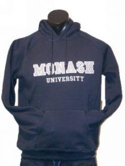 Monash Mens Applique Hoodie Navy 3X Large. Hooded Windcheater. Monash University $69.95. Measurements in cm.  Bust – 140cm.  Waist – 134cm.  Length – 80cm.  Arm Length – 82cm.