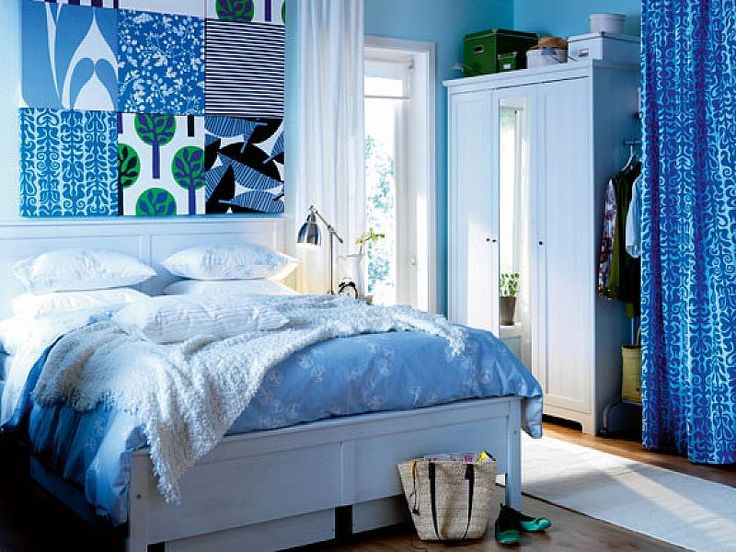 Bedroom Decor Blue And White 113 best blue drapes & decor images on pinterest | guest bedrooms