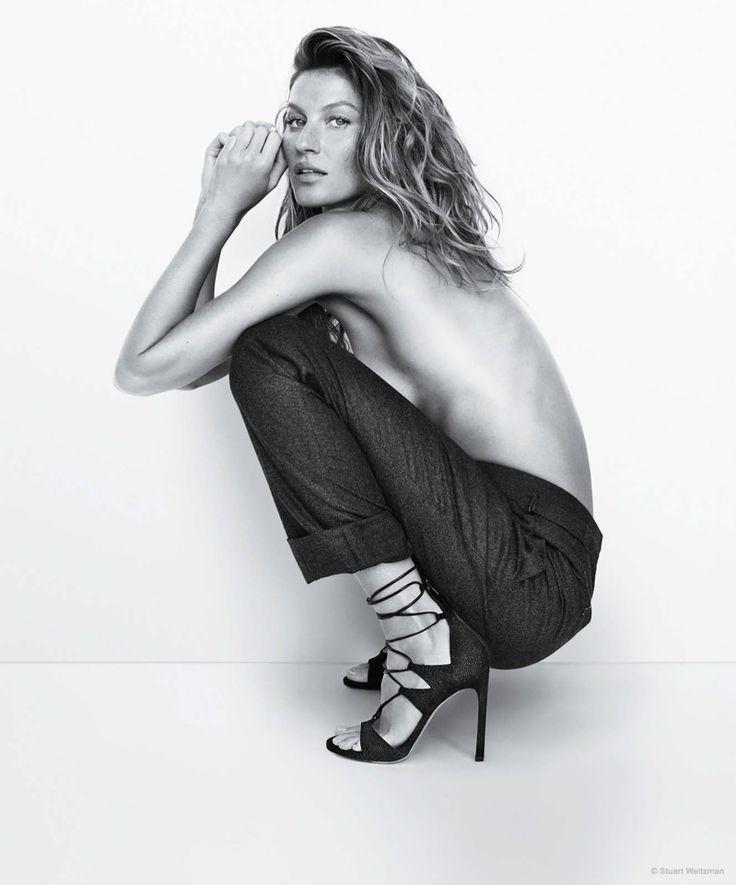 Gisele Bundchen Sports Sandal Styles in Stuart Weitzman Spring '15 Ads
