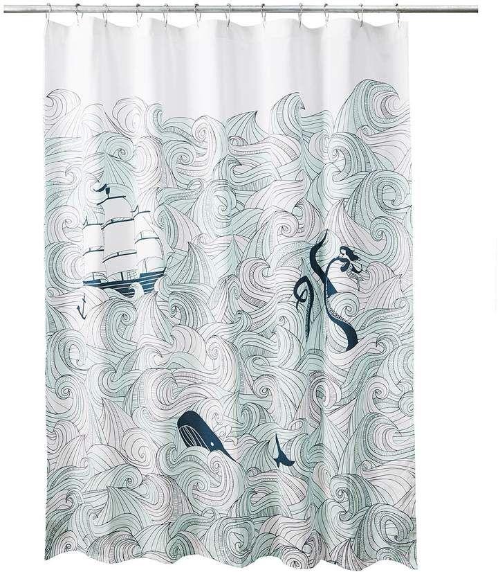 Odyssey Shower Curtain Nautical Bath Decor Cool Shower