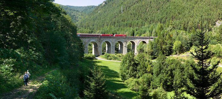 Hiking throw the amazing UNESCO world heritage Semmeringbahn