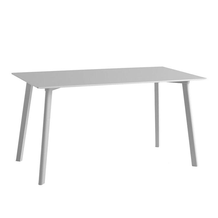Copenhague Deux av Ronan & Erwan Bouroullec för HAY är en serie bord och bänkar i ett stort antal olika storlekar och utföranden. Bordsskivans yta är tillverkad av nanolaminat som ger en extremt matt yta med en mjuk känsla. Nanolaminat är mycket lätt att rengöra, inga fingeravtryck syns på ytan och den är samtidigt extremt tålig mot värme och repor.