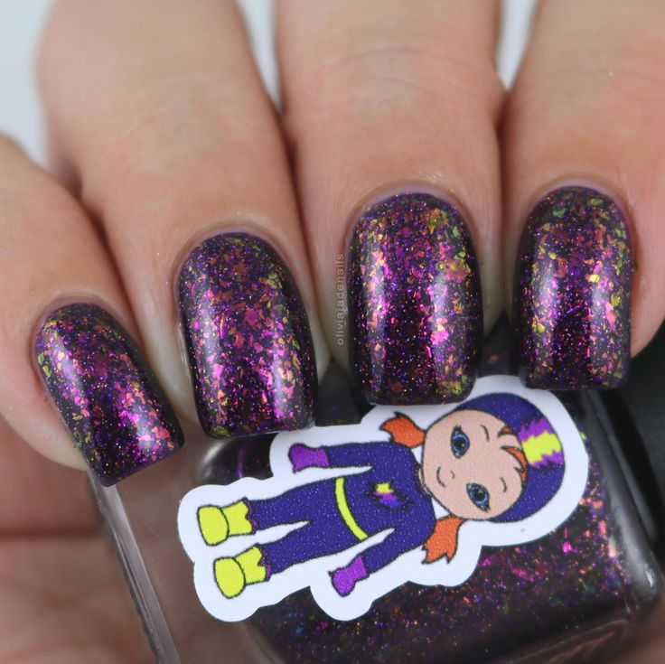 Grace-full Nail Polish Flakie Femme Fatale swatched by Olivia Jade Nails