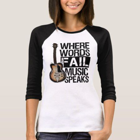 Music Speaks | Choose your background color T-Shirt - click/tap to personalize and buy