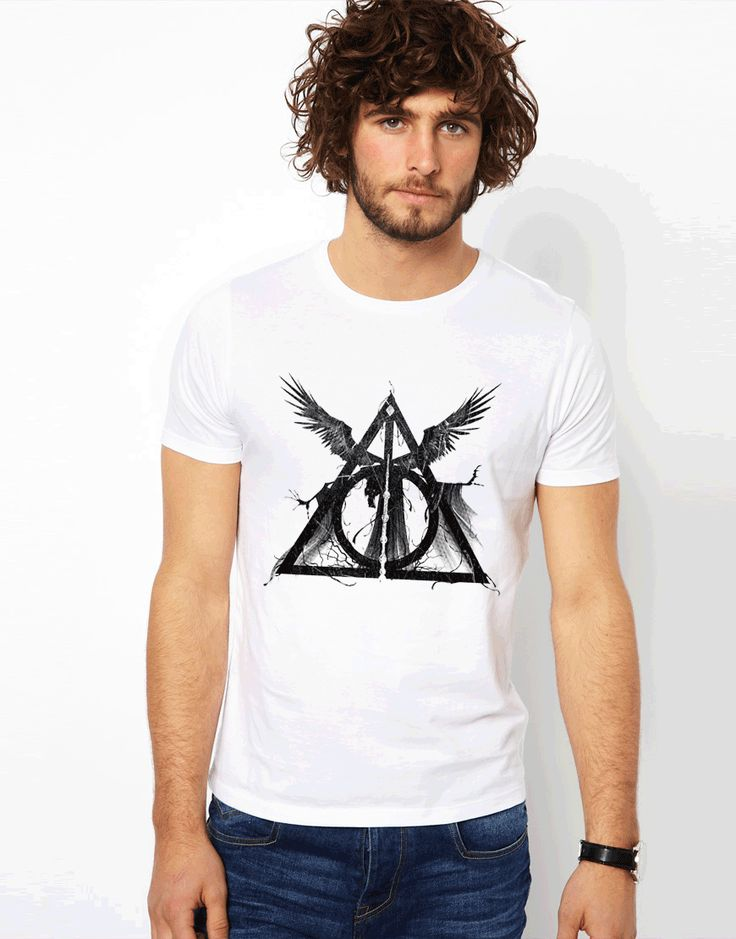 2017 Summer Newest Cool Three Deathly Hallows Print Tops Tees O-Neck Three Brothers Tale Design T Shirt Novelty Casual T-Shirts #Affiliate