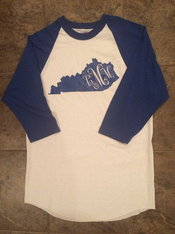 Royal Blue Kentucky baseball T-Shirt with by TheFourthStitch