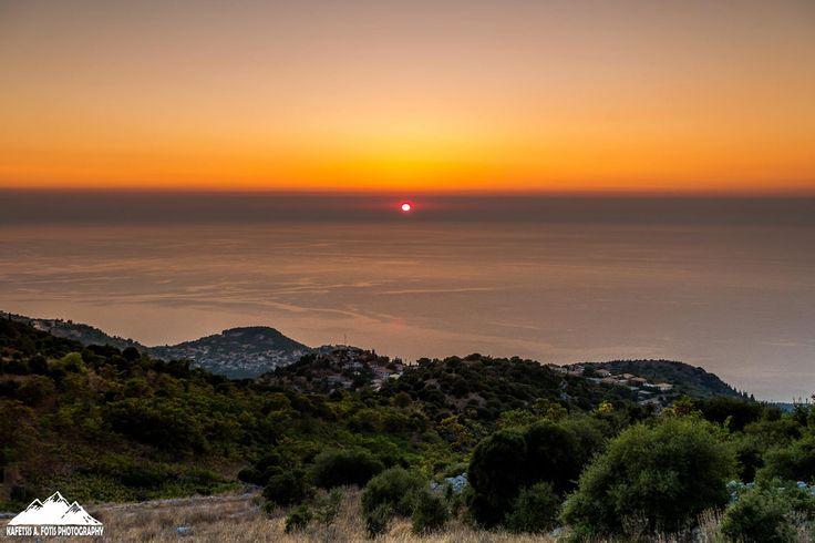 Ηλιοβασίλεμα από την Εξάνθεια.