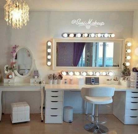 18 New ideas for makeup organization diy creative mirror