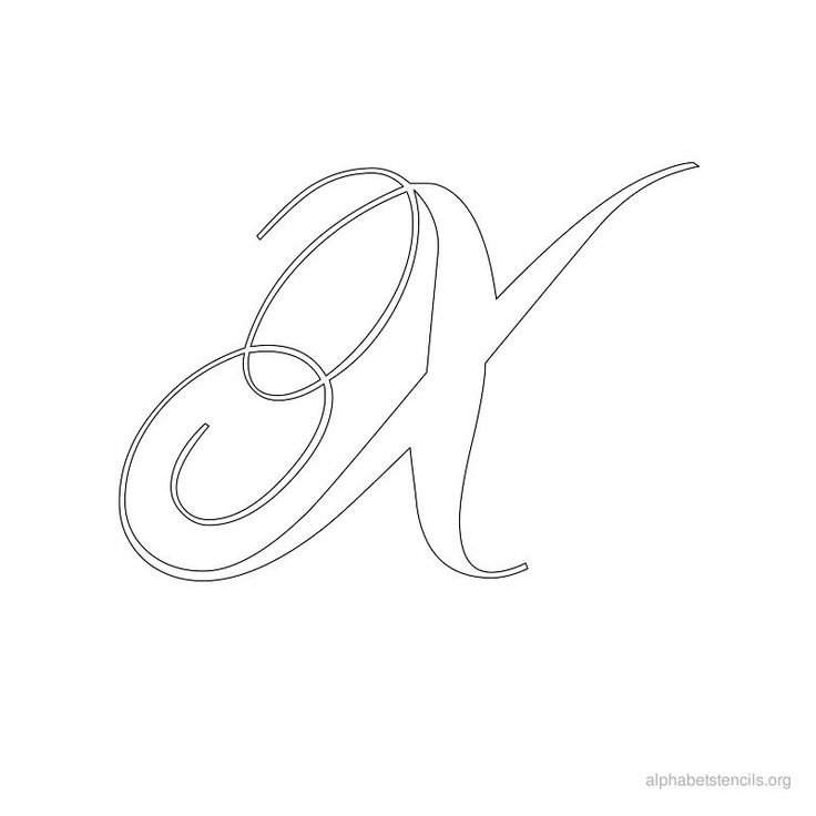 Print Free Alphabet Stencils Calligraphy X Alfabeto