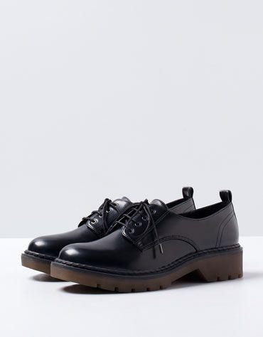 Bershka military derby shoes - Woman - Bershka Turkey