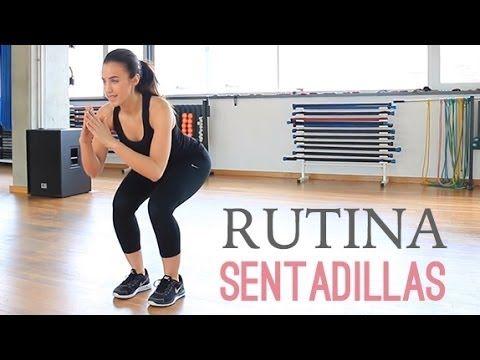 Rutina de ejercicios para tonificar glúteos y piernas | Sentadillas - YouTube