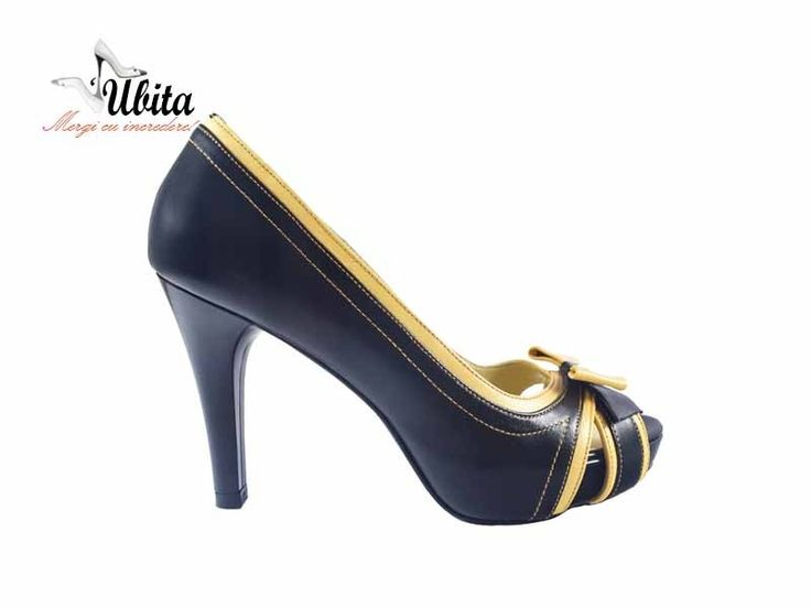 Poze Pantofi dama cu platforma cu fundita frontala si toc Yone
