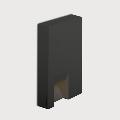 Kreon - Rokko - Wall Lamp - 20W G4 - 12V    Technical Info    Color: black  Voltage: 12V  Fitting: G4  Lamps description: G4 QT9-ax 20W  Placement: wall  Usage: indoor  IP: 65