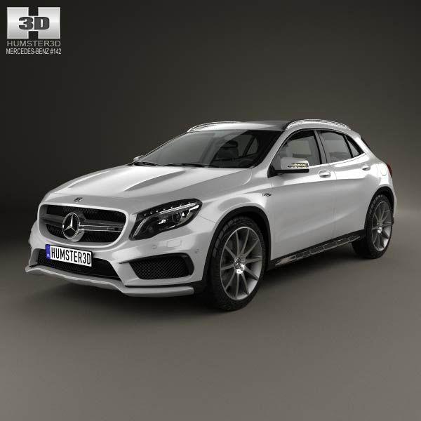 Mercedes benz gla class 45 amg 2014 3d model models for 2014 mercedes benz gla class