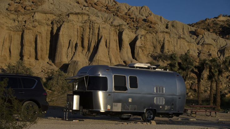 Airstream camping at Red Rocks Canyon State Park near Mojave, Calif. (Allen J. Schaben/Los Angeles Times)