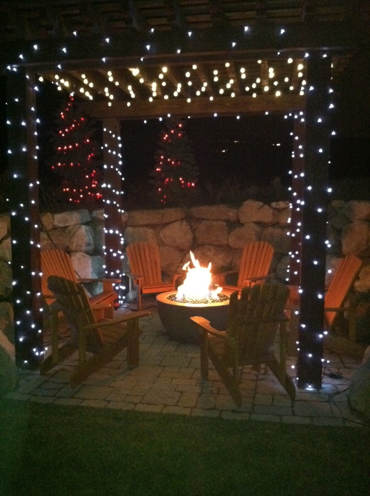 Time To Light Up The Pergolas Outdoor Living Pinterest